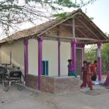 A low-cost, seismic resistant house in Bhuj, India, part of a large-scale program to redevelop informal settlements. Photo by Hunnarshala.