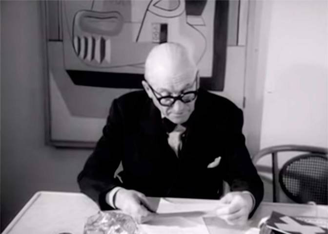 "Le Corbusier Discussing his Work, Poetry & the ""Ideal City"""