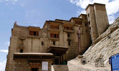 Photograph - the Leh Palace.