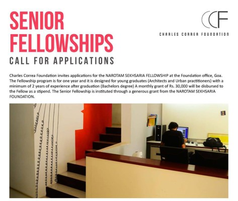 Senior Fellowship at Charles Correa Foundation.