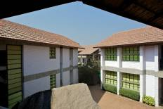 One of the triangular courtyards in the Administration & Primary Block.