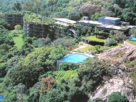 Areal Photograph of the Kandalama Hotel, Dambulla