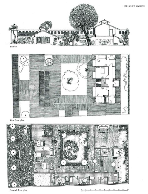 Ena De Silva House: Copy Drawing by Vernon Nonis, 1985