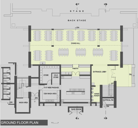 Dining Block: Ground Floor Plan