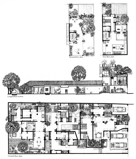 1985 Nonis Copy of the Drawings of Bawa's residence in Colombo [33rd Lane House]