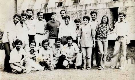 The 1974 batch of students at CEPT, Ahmedabad (Photo courtesy: Anjali Yagnik).