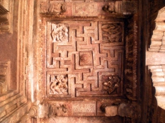 Ceiling carved out with the Swastika motif in Cave no. 2