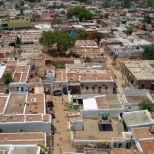 View of the vernacular housing in Badami from top of the hill. One can notice the skylights of the houses from the top.