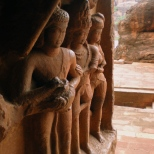 Sculptures on the right wall of Cave no 2.