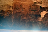 Traces of cave paintings which are still found in Cave No. 3