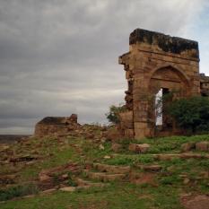 Traces of the South Fort which was built above the caves by Haider Ali.
