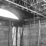 Construction phase of the vault.
