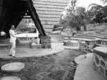 Gazebo & Landscape: Phases during construction