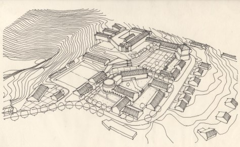 Drawing: Masterplan For Central Coffee Research Institute, Chikmagalur.