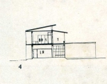 Section, Twin Houses in Colombo, 1938