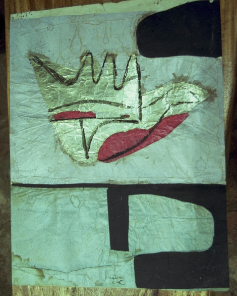 Lithograph given by Corbusier to Minnette de Silva, photo DS Kandy, 1993
