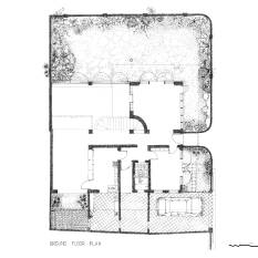Coomaraswamy House, Ground Floor Plan, CA