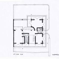 Coomarawamy House, 1st Floor Plan, CA