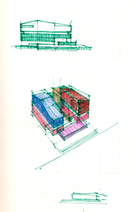 04 Sketches for Surat House.