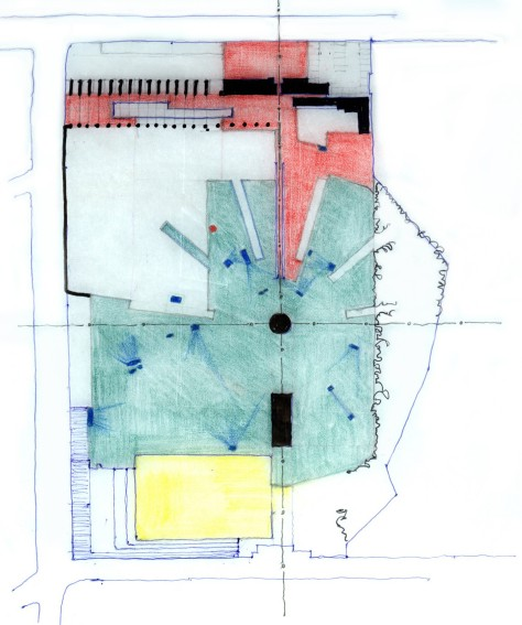Drawings from the Proposal for Freedom Park.