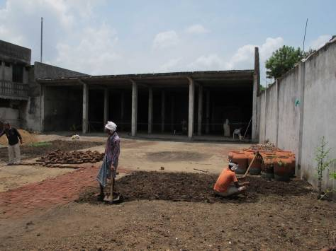 The construction process - before renovation.