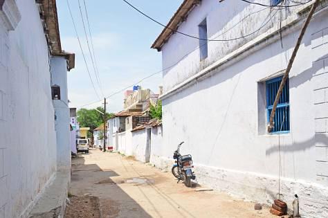 White walled street.