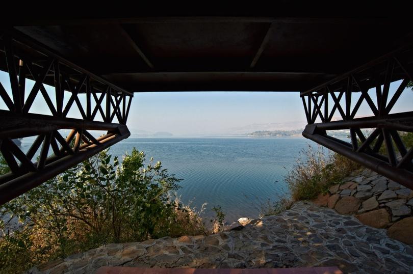 View from the seating, Eye on the Lake, Shabbir Unwala, Khadakwasla, architecture, India