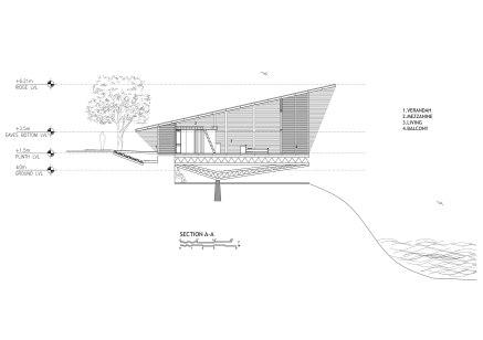 Longitudinal Section, Eye on the Lake, Shabbir Unwala, Khadakwasla, architecture, India