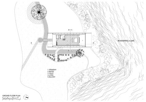 Site Plan, Eye on the Lake, Shabbir Unwala, Khadakwasla, architecture, India