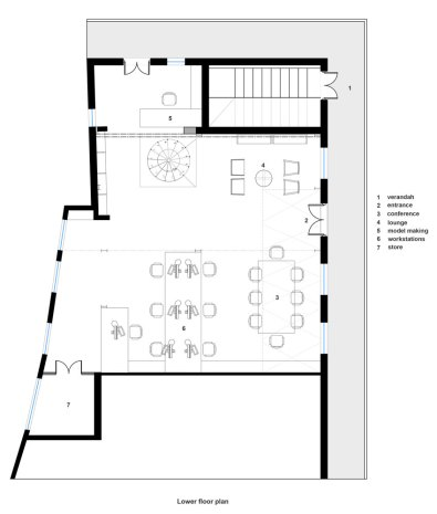 Plan, Khushru Irani Design Studio, Architecture, Pune, India, Adaptive Reuse, Restoration