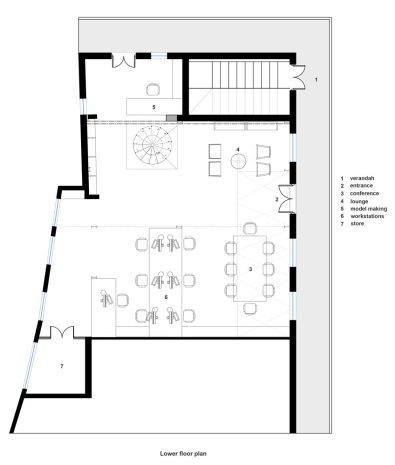 Plan, Khushru Irani Design Studio, Architecture, Pune, India, Adaptive Reuse, Restoration