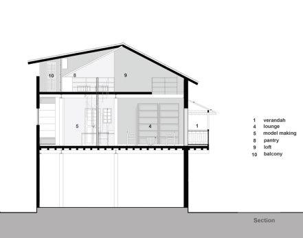 Section, Khushru Irani Design Studio, Architecture, Pune, India, Adaptive Reuse, Restoration