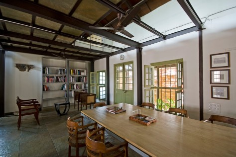 Lounge, Khushru Irani Design Studio, Architecture, Pune, India, Adaptive Reuse, Restoration
