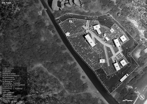 Mahaprasthanam, Crematorium, D A Studios, Site Plan