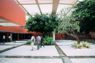The central courtyard of Kala Academy
