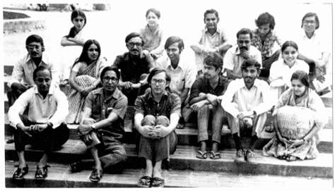 A 1972 Photograph shows Christopher Benninger with Balkrishna Doshi on the CEPT Campus, Ahmedabad.