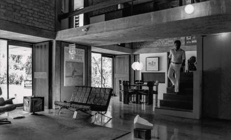 Page Spread : Architect Hasmukh C.Patel photographed at the House for Bhakti and Hasmukh Patel, Ahmedabad