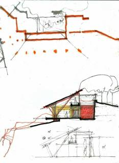 Koba House [2008], Gandhinagar drawing by Uday Andhare