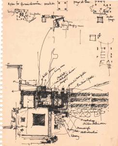 'Spirit of the Building' - Sketch from CEPT Sketchbook by Uday Andhare