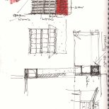 Parekh House, Ahmedabad [2015] drawing by Uday Andhare