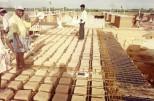 EWS Housing at Kuthambakkam: Laying of the Madras-terrace in progress