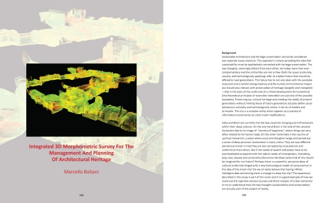 Page Spread: 3D Morphometric Survey Technique for Scan of Restoration Sites