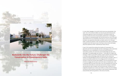 Page Spread: Backwards Into The Future by Rahul Mehrotra