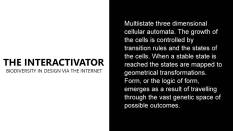 Programming the 'Interactivator'