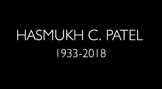 TRIBUTE: Hasmukh C. Patel, (7 December 1933 – 20 January 2018) by RIYAZ TAYYIBJI