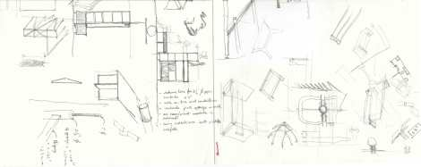 Bookshelf_ initial design detail sketches_ drawn by Shubhra Raje and Manthan Mevada