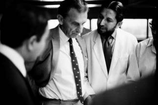 J.R.D. Tata and Gautam Sarabhai, c.1968 | From Revisiting NID's History- Visiting Consultants of National Institute of Design Exhibition Print | Image Courtesy: NID Archives