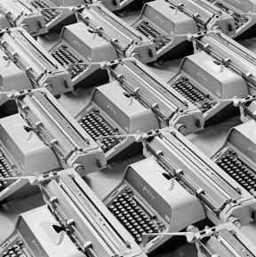 Mitter Bedi (1926-1985) | Godrej AB Typewriters c.1970 | Image Courtesy: Mitter Bedi Collection, Godrej Archives