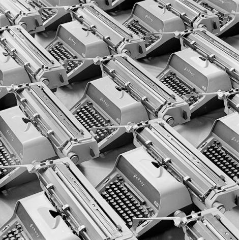 Mitter Bedi (1926-1985)   Godrej AB Typewriters c.1970   Image Courtesy: Mitter Bedi Collection, Godrej Archives