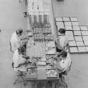 Mitter Bedi (1926-1985)   Lock manufacturing plant, Godrej locks, Vikhroli (Mumbai) c.1970   Image Courtesy: Mitter Bedi Collection, Godrej Archives